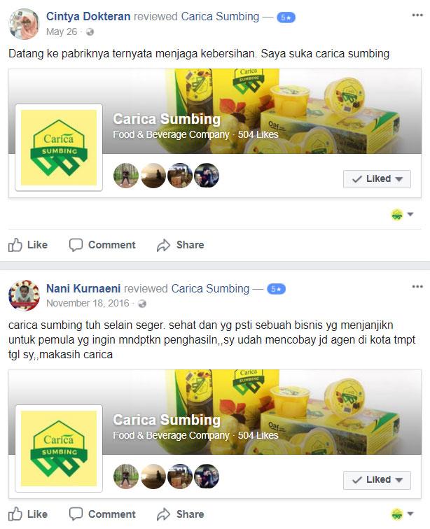facebook carica sumbing